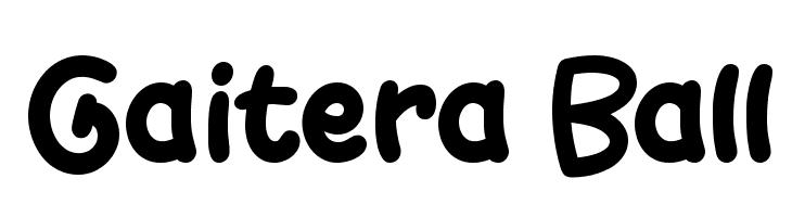 Gaitera Ball  Скачать бесплатные шрифты