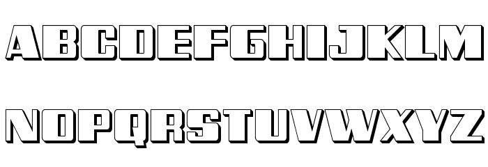 Galactic Storm 3D Font UPPERCASE
