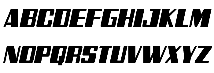 Galactic Storm Condensed Italic Fonte MAIÚSCULAS