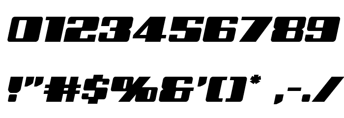 Galactic Storm Expanded Italic Font OTHER CHARS