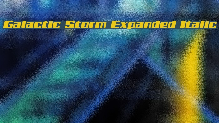 Galactic Storm Expanded Italic Font examples