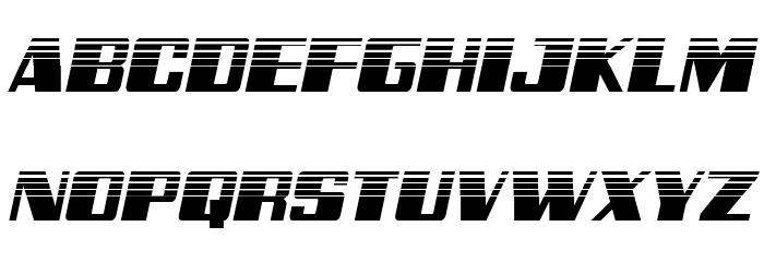Galactic Storm Halftone Italic Font UPPERCASE