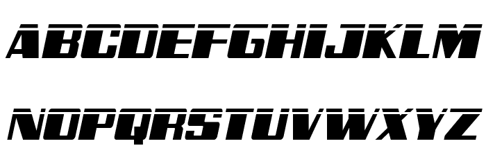 Galactic Storm Laser Italic Font UPPERCASE