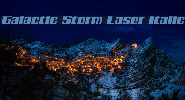 Galactic Storm Laser Italic Font examples