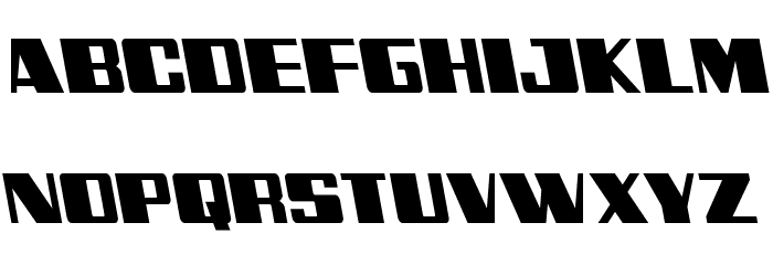 Galactic Storm Leftalic Font UPPERCASE