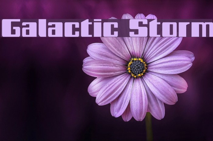 Galactic Storm Fonte examples