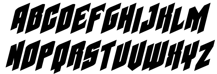 Galaxy Force Expanded Italic Font LOWERCASE