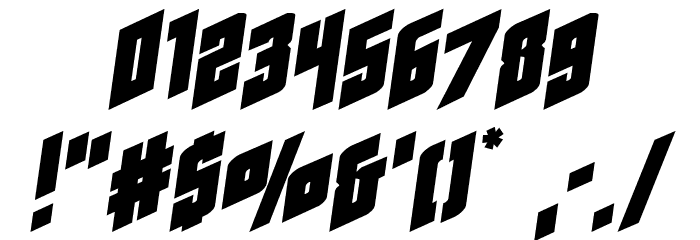 Galaxy Force Expanded Semi-Italic Font OTHER CHARS