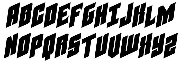 Galaxy Force Expanded Semi-Italic Font UPPERCASE