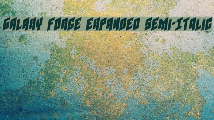 Galaxy Force Expanded Semi-Italic Font examples