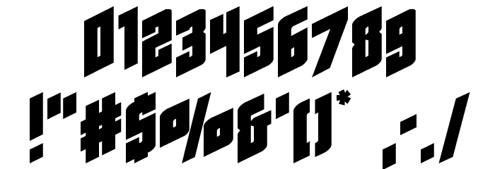 Galaxy Force Expanded Font OTHER CHARS