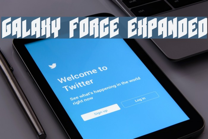 Galaxy Force Expanded Fonte examples