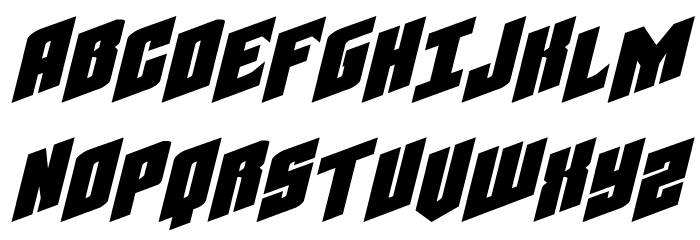 Galaxy Force Extra-Expanded Italic Font UPPERCASE
