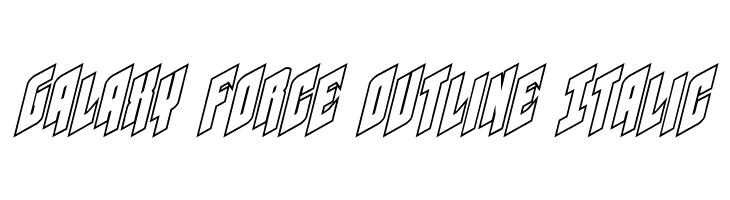 Galaxy Force Outline Italic  Скачать бесплатные шрифты