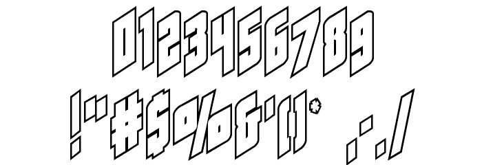 Galaxy Force Outline Font - free fonts download