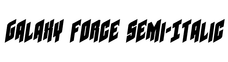 Galaxy Force Semi-Italic  Free Fonts Download