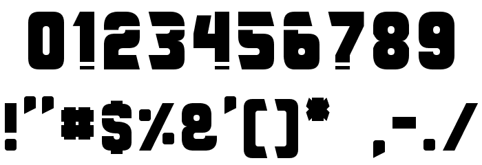 Galaxy Force Font OTHER CHARS