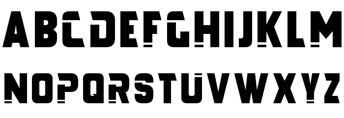 Galaxy Force Font UPPERCASE