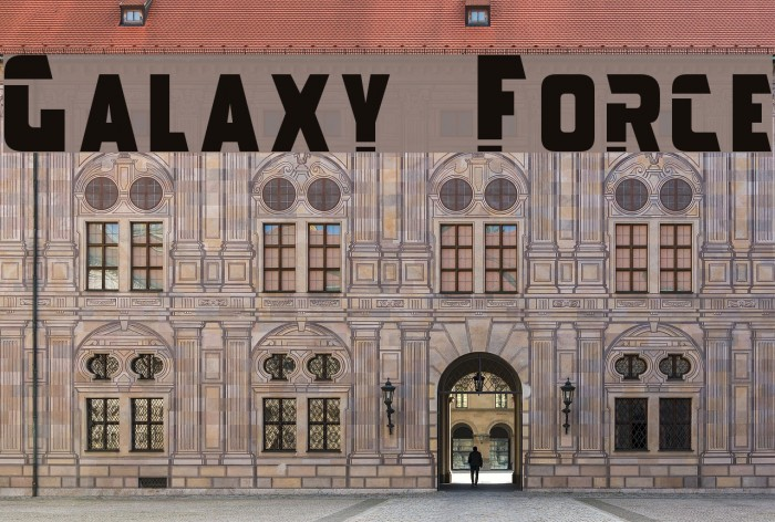 Galaxy Force Font examples