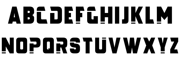 Galaxy Force Font LOWERCASE