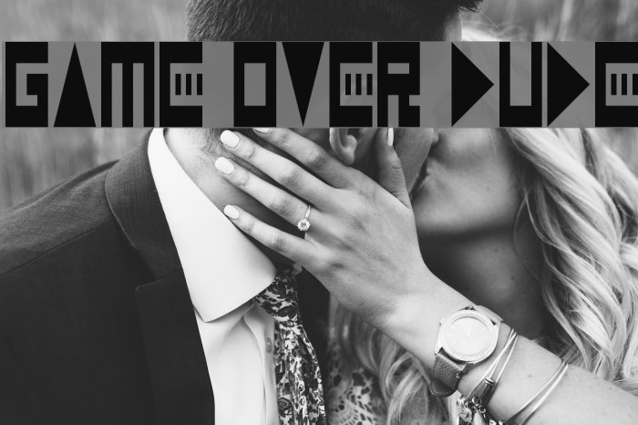 Game Over Dude Font examples