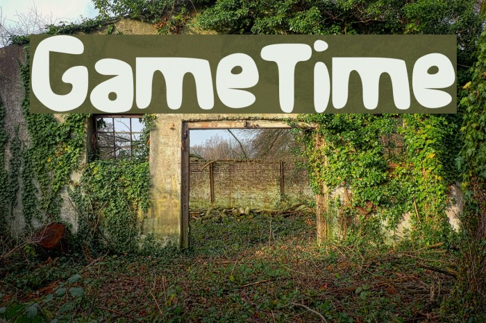 Game_Time Font examples