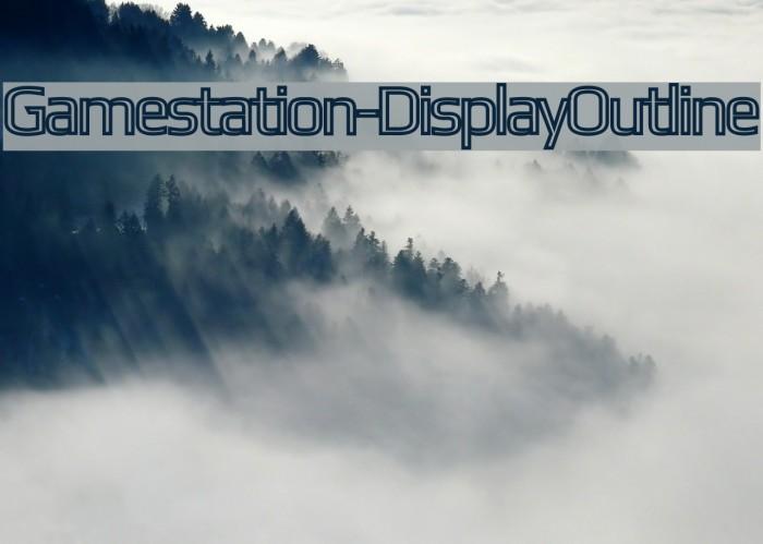 Gamestation-DisplayOutline Font examples