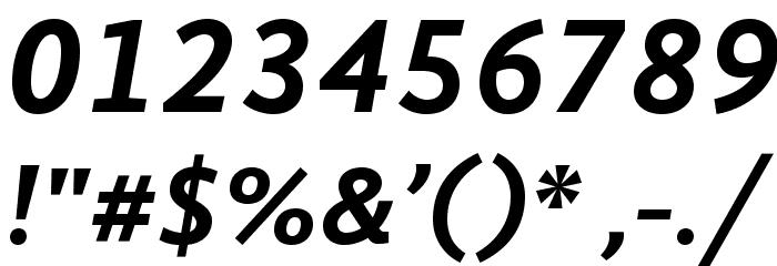 GandhiSans-BoldItalic Font OTHER CHARS