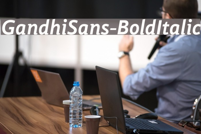 GandhiSans-BoldItalic Schriftart examples
