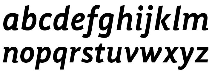 GandhiSans-BoldItalic Schriftart Kleinbuchstaben