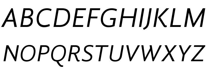 GandhiSans-Italic Caratteri MAIUSCOLE