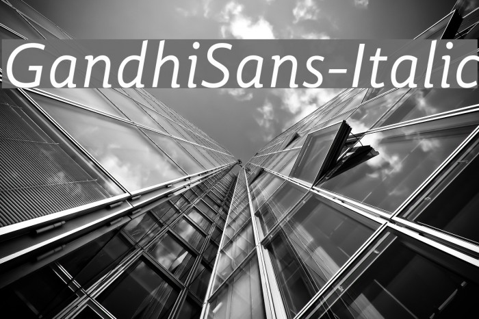 GandhiSans-Italic Polices examples