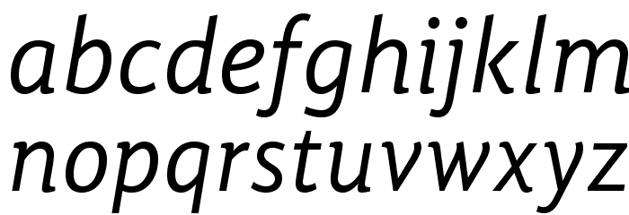 GandhiSans-Italic Font LOWERCASE