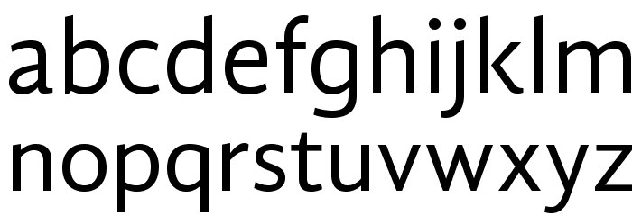 GandhiSans-Regular Font Litere mici