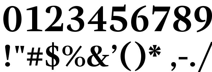 GandhiSerif-Bold フォント その他の文字