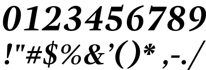 GandhiSerif-BoldItalic Caratteri ALTRI CARATTERI