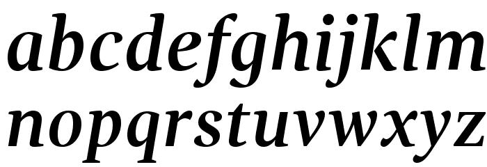 GandhiSerif-BoldItalic Caratteri MINUSCOLO