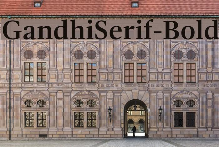 GandhiSerif-Bold Caratteri examples