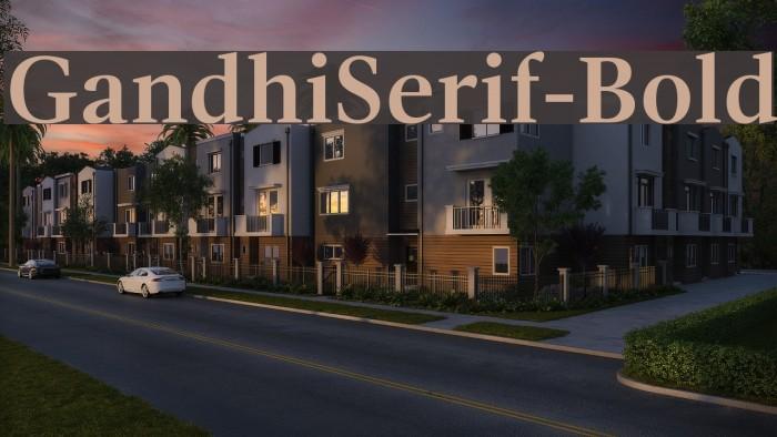GandhiSerif-Bold फ़ॉन्ट examples
