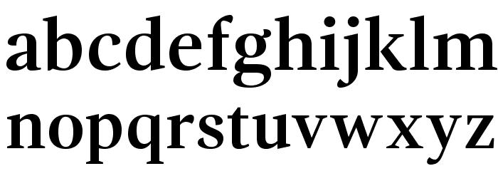 GandhiSerif-Bold フォント 小文字