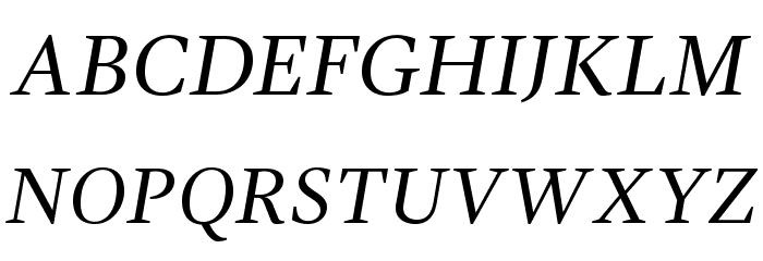 GandhiSerif-Italic Font UPPERCASE