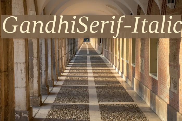 GandhiSerif-Italic फ़ॉन्ट examples