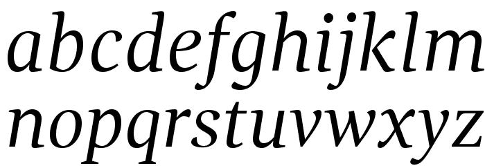 GandhiSerif-Italic फ़ॉन्ट लोअरकेस
