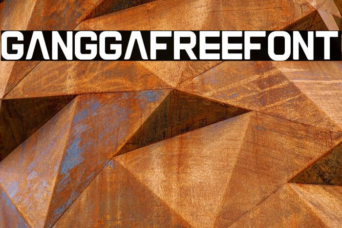 Gangga-Free-Font Font examples