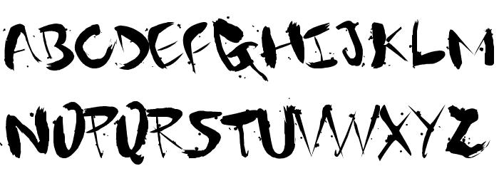 Gantz font Font UPPERCASE