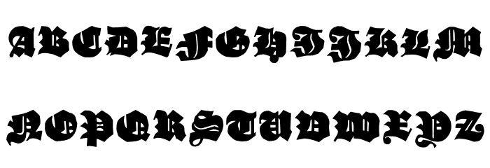 GanzGrobeGotisch-UltraBlack Font UPPERCASE
