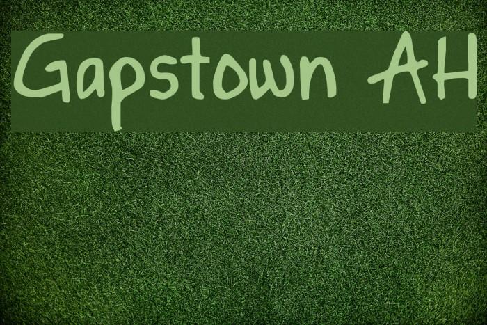Gapstown AH फ़ॉन्ट examples