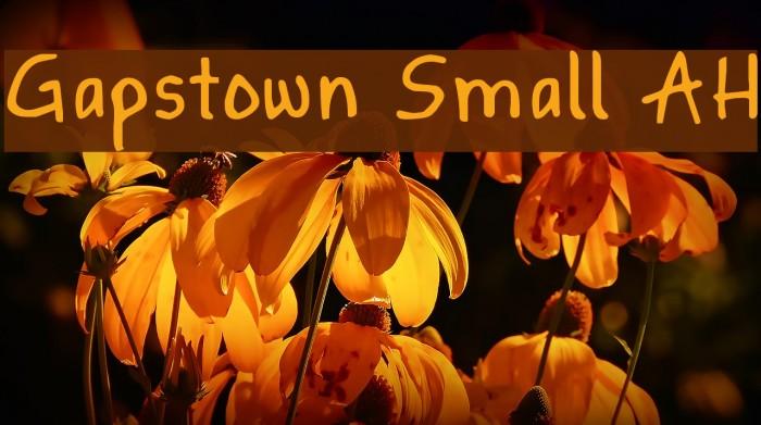 Gapstown Small AH फ़ॉन्ट examples