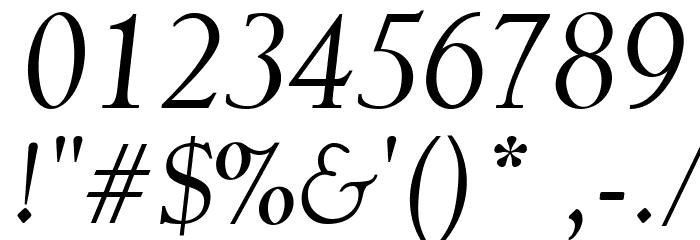 Garava Italic Font OTHER CHARS