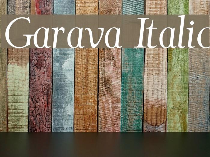 Garava Italic Font examples